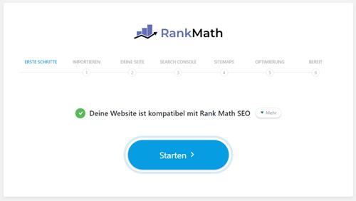 Rank Math Einrichtung